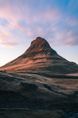 Canvas Prints Cappuccino Kirkjufell is one of the most scenic and photographed mountains in Iceland all year around. Beautiful Icelandic landscape of Scandinavia