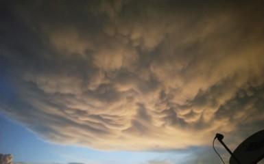 time lapse clouds Fotobehang