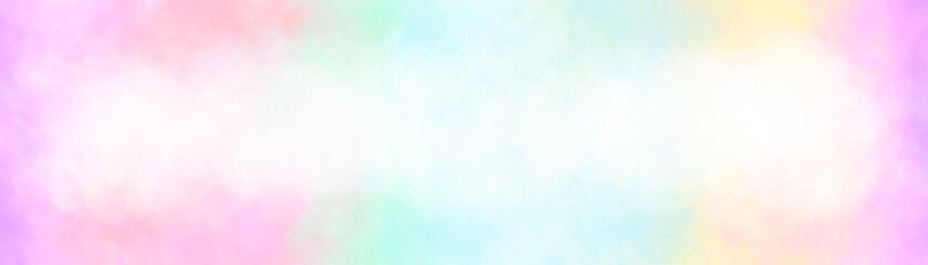 Banner glare abstract texture. Blur pastel color background. Rainbow gradient color. Ombre girly princess style