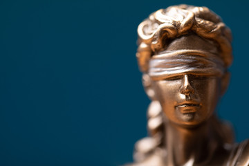 Face of lady justice or Iustitia - The Statue of Justice.