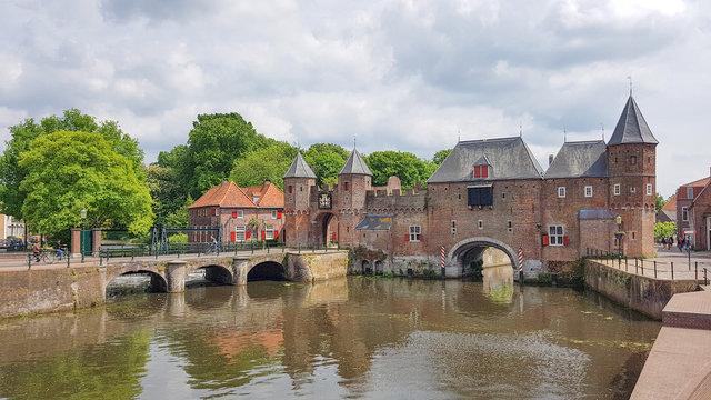 Old city gate of Koppelpoort in Amersfoort