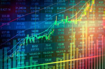 Obraz Close-up Of Stock Market Data On Screen - fototapety do salonu