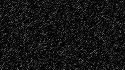 Light rain isolated in black background for overlay Fotobehang