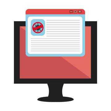 campaign of stop covid 19 in computer vector illustration design
