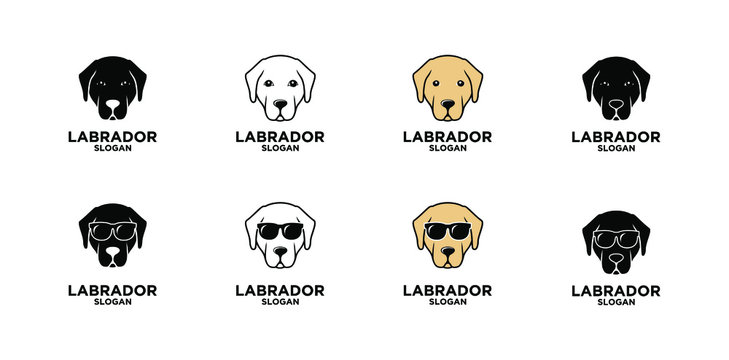 labrador Retriever dog head logo icon design