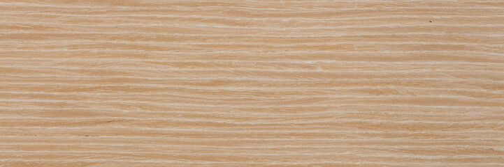 Tuinposter Marmer Elegant natural oak veneer background in light beige color. Natural wood texture, pattern of a long veneer sheet, plank.