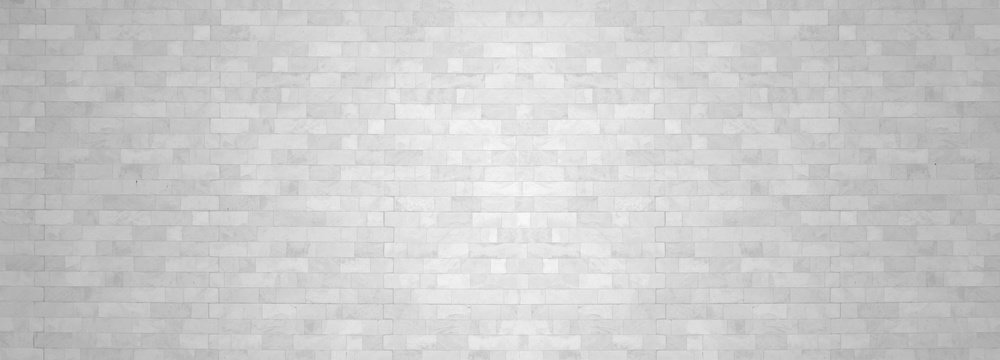 White brick wall backgrounds studio room interior texture for display products.