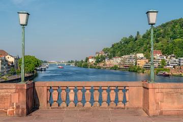 Heidelberg Alte Brücke, Aussicht auf den Neckar