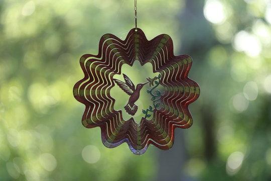 Brown metal wind garden ornament