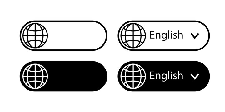 Translate vector icon. Change language button isolated on white background. Vector illustration.