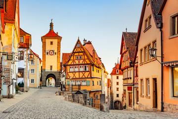 Plönlein in Rothenburg ob der Tauber, Deutschland