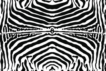Animal Zebra print. Seamless monochrome black and white background. Small strip