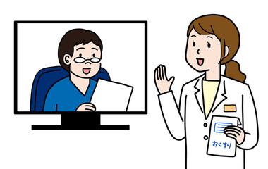 オンライン薬剤師と医者