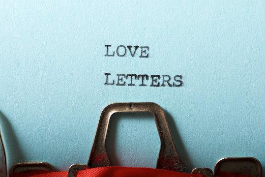 Love letters concept