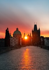 Wall Mural - Prague skyline sunrise