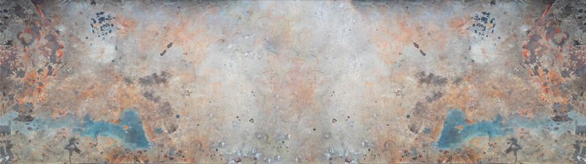 Rusty metal zinc texture background banner panorama