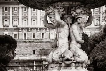 Wall Mural - Madrid Royal Palace fountain
