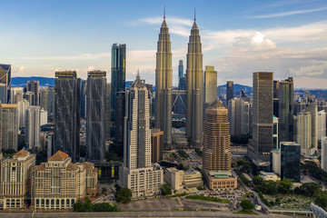 Foto op Aluminium Kuala Lumpur Kuala Lumpur Skyline, Malaysia.