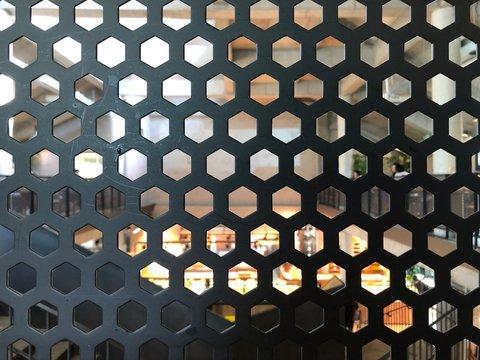 철망 헥사곤 육각 hexagon black 비치다
