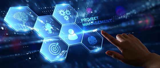 Papiers peints Montagne Project management concept. Business, Technology, Internet and network concept.