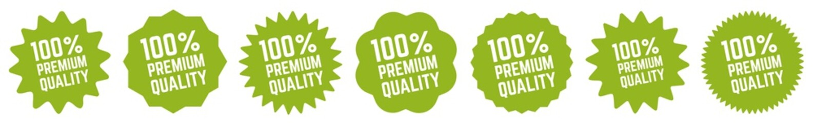 100 Percent Premium Quality Tag Green | 100% | Icon | Sticker | Deal Label | Variations
