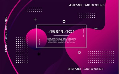 modern abstract liquid color background. dynamic textured geometric elements design with dots decoration. can be used on posters,banner,web and any more Wall mural