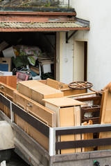car trailers with furniture for disposal