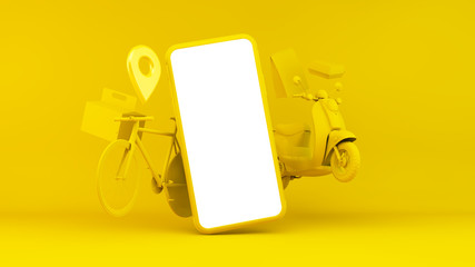 Fast food home delivery concept