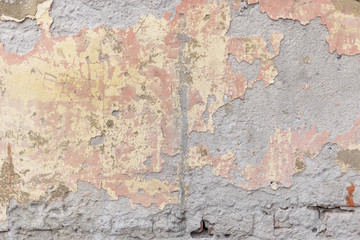 Texture of old light stucco, suitable for textures of street walls and facades