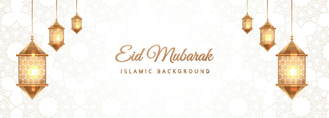 Eid Mubarak Vector.Eid Mubarak with mosque upon moon background, Eid Mubarak greeting Card Illustration, Islamic festival design for banner, poster, background, illustration.