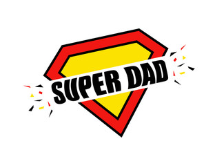 Father's Day, Super Dad superman style Calligraphy greeting cards set. Vector illustration with hand draw lettering.
