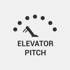 Elevator Pitch Icon. Vector Illustrator