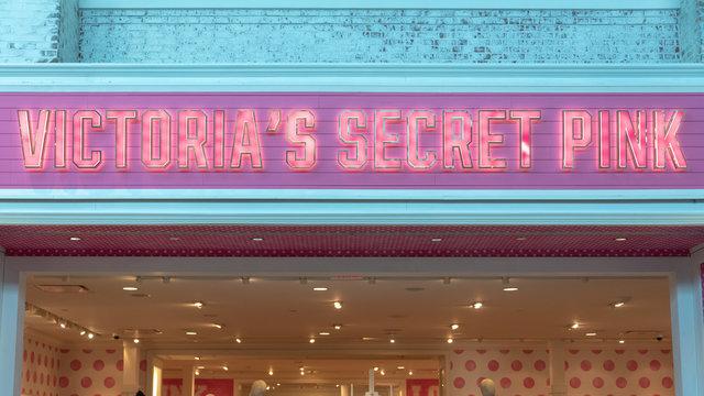 A sign of a Victoria's Secret Pink store, Toronto, Canada