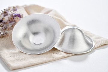 breastfeeding accessory; Silver nipple shield