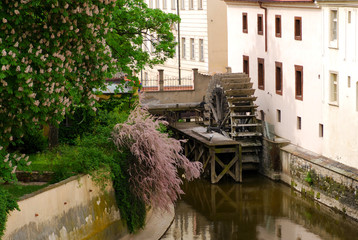 old vintage watermill in the center of Prague Fototapete