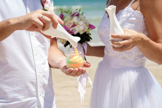 beach weddng ceremony decoration