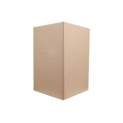 Realistic blank cardboard packaging box  mock up on white background,  3d illustration