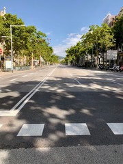 Empty Streets of Barcelona, Spain During Lockdown