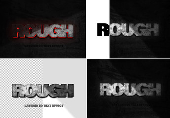 Rough Rock Text Effect Mockup