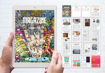 Underground Alternative Urban Art Digital Magazine Layout
