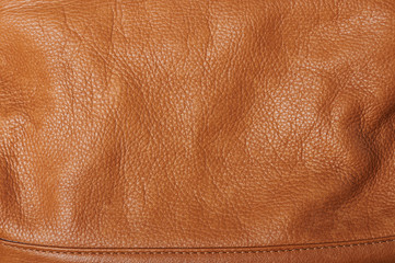 Texture of clean brown leather