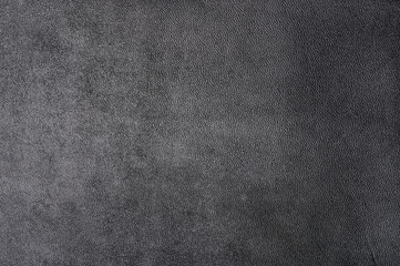 Black leather material surface