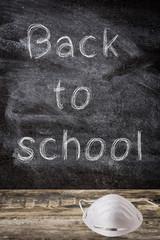 Back to school and coronavirus COVID-19 concept