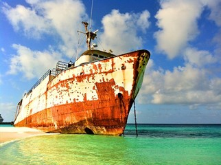 Old Anchored Ship