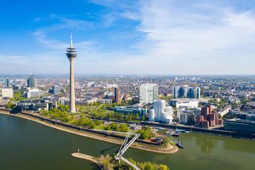 Düsseldorf Skyline during spring