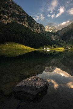 Lakeside on the Seealpsee