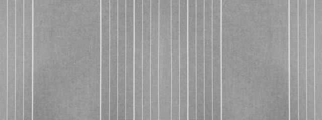 Gray grey white striped natural cotton linen textile texture background banner panorama