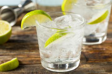 Fototapete - Refreshing Boozy Gin and Tonic