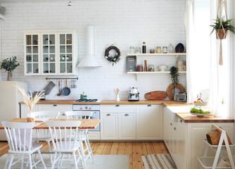 Papiers peints Montagne Scandinavian-style kitchen interior, vintage appliances and atmosphere