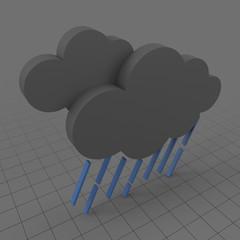 Rain weather symbol